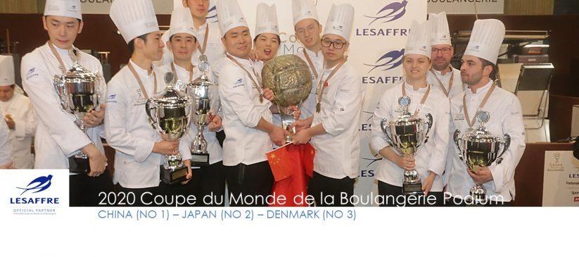 2020 Podium Coupe du monde de la Boulangerie
